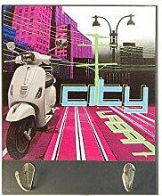 DOREX City Garderobenhaken, Holz, Mehrfarbig,