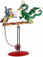 DOREX Drachenfigur, Metall, Rot, Einheitsgröße