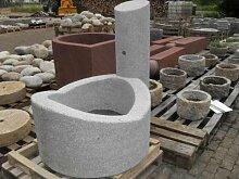 Dorfbrunnen aus grauem Granit Durchmesser 90 cm