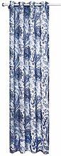 Doris Printing 80% Schatten Fertigprodukt Fenster Punch Curtain Screening 1 Panel , blue , 52*63in