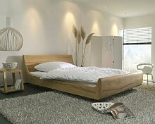 Dormiente Massivholz-Bett Mola Nussbaum 200x200 cm