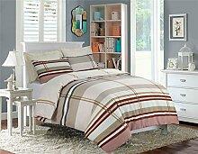 Dorney bedruckt Bettwäscheset, Bettbezug mit Kissen Fall Bettwäsche-Set alle Größen mit neuen Design, Dorney Brown, KING DUVET COVER SET