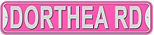Dorthea Schild–Kunststoff Wand Tür Street Road weiblich Name, plastik, rose, Road
