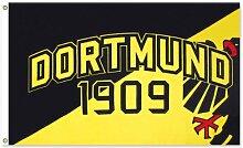 Dortmund Fahne Meisterfahne Flagge Dortmundfahne Hissfahne Zimmerfahne, wählen:FL-DO06 Dortmund 1909