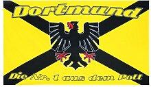 Dortmund Fahne Meisterfahne Flagge Dortmundfahne Hissfahne Zimmerfahne, wählen:FL-DO00 Nr. 1 aus dem Po