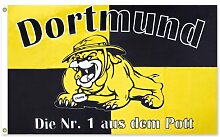 Dortmund Fahne Meisterfahne Flagge Dortmundfahne Hissfahne Zimmerfahne, wählen:FL-DO03 Nr. 1 aus dem Po