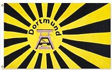 Dortmund Fahne Meisterfahne Flagge Dortmundfahne Hissfahne Zimmerfahne, wählen:FL-DO08 Dortmund