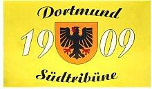 Dortmund Fahne Meisterfahne Flagge Dortmundfahne Hissfahne Zimmerfahne, wählen:FL-DO04 Dortmund Südtribüne