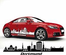 Dortmund Skyline Aufkleber Silhouette