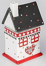 Dose Haus aus Keramik 11cm x 21cm Gebäckdose