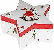 Dose Stern 22cm Weihnachtszeit Gebäckdose