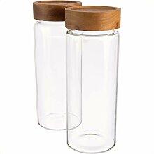 Dosenritter | 2X Vorratsglas/Glasbehälter aus