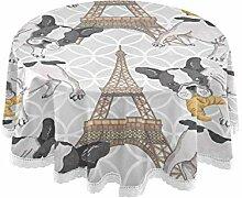 DOSHINE Tischdecke, Paris Eiffelturm,