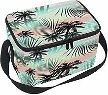 DOSHINE Tropical Hawaii Palme Isolierte Lunch Box