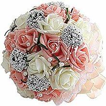 Dosige Brautstrauß Seidenblumenstrauß