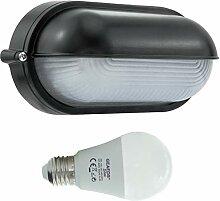 Dosse-LED 10W - E27 - Aluminium -Alu wandstrahler