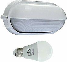 Dosse -LED 10W - E27 - Aluminium -Alu wandstrahler