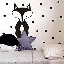 Dot Mr. Fox Vinyl selbstklebende Wandaufkleber