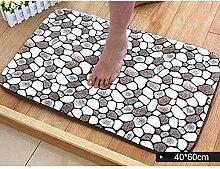 DOTBUY Korallen Samt Fußmatte, Premium Teppich