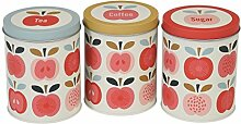Dotcomgiftshop Dosenset 3er Set Vintage Apple