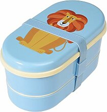 Dotcomgiftshop Lunchbox Bento Box mit Besteck Löwe