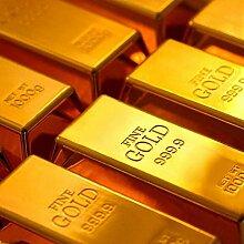 Dotters Goldbarren Türstopper, 1kg glänzend