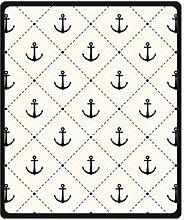 "Doubee Antike Anchor Fleece Blanket Decke Kuscheldecke Wolldecke 50"" x 60"",127cm X 152cm"