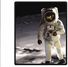"DOUBEE Astronaut Fleece Blanket Decke Kuscheldecke Wolldecke 50"" x 60"",127cm X 152cm"