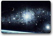 DOUBEE Bunte Mysteriöse Galaxy Fussmatte Premium Schmutzmatte Rechteckige Türmatte aus Garten Nach Hause 60cm X 40cm
