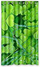 DOUBEE Custom Vorhänge Gras Grün Polyester Deco Vorhang Design 127cm x 213cm (1 Stück)