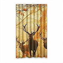 DOUBEE Custom Vorhänge Hirsch Deer Polyester Deco Vorhang Design 127cm x 213cm (1 Stück)