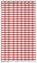 DOUBEE Custom Vorhänge Rote Striped Raspberry Polyester Deco Vorhang Design 127cm x 213cm (1 Stück)