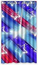DOUBEE Custom Vorhänge Stern Streifen Polyester Deco Vorhang Design 127cm x 213cm (1 Stück)