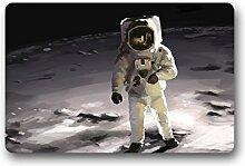 DOUBEE Design Astronaut Herzlich Fussmatte Premium Schmutzmatte Fußabstreifer 46cm X 76 cm