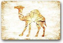 DOUBEE Design Camel Herzlich Fussmatte Premium Schmutzmatte Fußabstreifer 46cm X 76 cm
