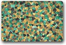 DOUBEE Design Camouflage Fussmatte Premium Schmutzmatte Fußabstreifer im Freien Innen 46cm X 76 cm