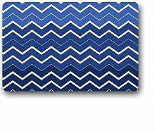 DOUBEE Design Chevron Fussmatte Schmutzmatte Fußabstreifer im Freien Innen 46cm X 76cm