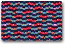 DOUBEE Design Chevron Herzlich Fussmatte Premium Schmutzmatte Fußabstreifer 46cm X 76 cm