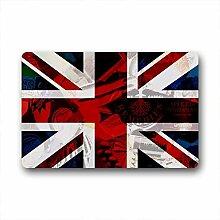 DOUBEE Design England Flagge Fussmatte Schmutzmatte Fußabstreifer im Freien Innen 46cm X 76cm