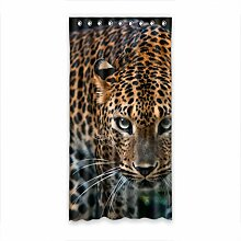 DOUBEE Design Fashion Leopard Modern Und Vorhänge Polyester mit Ösen 127cm x 244cm (1 Stück)