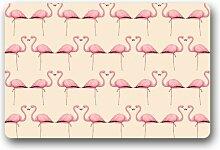 DOUBEE Design Flamingo Fussmatte Premium Schmutzmatte Fußabstreifer im Freien Innen 46cm X 76 cm