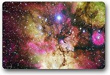 DOUBEE Design Galaxis Galaxy Fussmatte Schmutzmatte Fußabstreifer Garten Nach Hause 46cm X 76cm