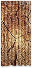 DOUBEE Design Holz Wood Grand Vorhänge Polyester klassisch Dichte Fenstergardinen 132 x 274 cm, mit Ösen (1 Stück)