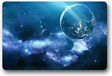 DOUBEE Design Mysteriöse Galaxy Fussmatte Premium Schmutzmatte Fußabstreifer im Freien Innen 46cm X 76 cm