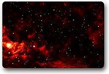 DOUBEE Design Mysteriöse Galaxy Herzlich Fussmatte Premium Schmutzmatte Fußabstreifer 46cm X 76 cm