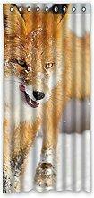 DOUBEE Design Niedlich Fox Vorhänge Fenstergardinen 100% Polyester Gardinen 132 x 274 cm, (1 Stück)