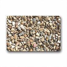 DOUBEE Design Stein Kiesel Pebble Fussmatte Schmutzmatte Fußabstreifer Garten Nach Hause 46cm X 76cm