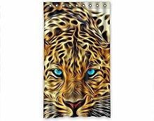 DOUBEE Design Vorhänge Fashion Leopard 100% Polyester Deco Gardinen 127cm x 213cm (1 Stück)