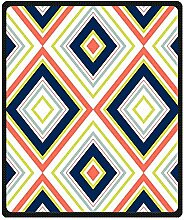 DOUBEE Fleece Decke Chevron Pattern Blanket Kuscheldecke Wolldecke 127cm X 152cm