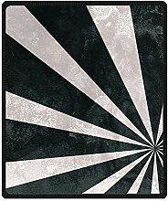 DOUBEE Fleece Decke Distressed Stripes Pattern Blanket Kuscheldecke Wolldecke 127cm X 152cm